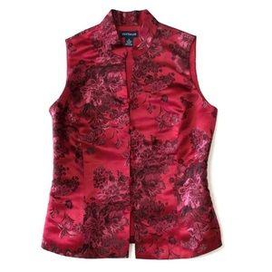 Ann Taylor silk Chinese inspired silk vest